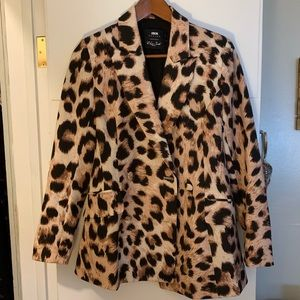 ASOS leopard print blazer.